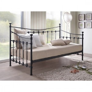 Florida Metal Single Day Bed In Black