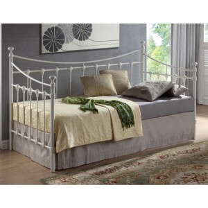 Florida Metal Single Day Bed In Ivory