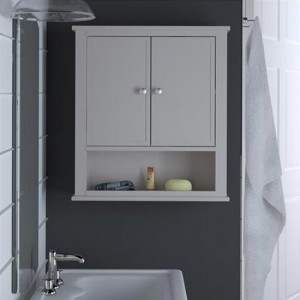 Franklin Bathroom Wall Hung Storage Cabinet In Grey