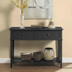 Franklin Wooden Console Table In Black