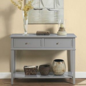 Franklin Wooden Console Table In Grey