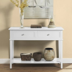 Franklin Wooden Console Table In White