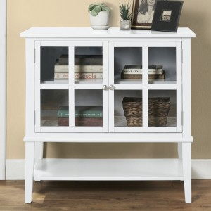 Franklin Wooden Storage Cabinet In White With 2 Doors