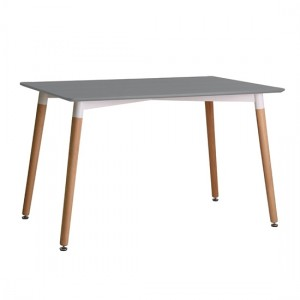 Fraser Wooden Dining Table In Grey