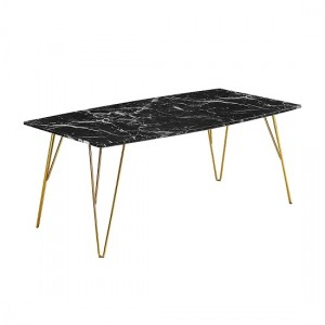 Fusion Black Marble Coffee Table With Gold Metal Legs