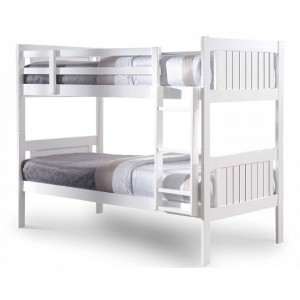 Glory Wooden Bunk Bed In White