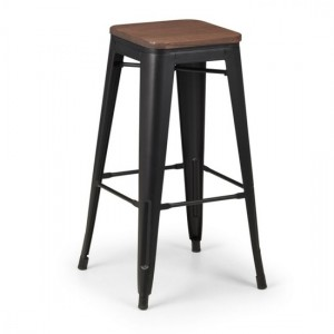 Grafton Backless Wooden Bar Stool In Mocha Elm
