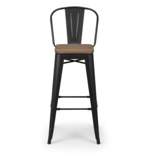 Grafton Wooden Bar Stool In Mocha Elm