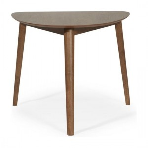 Guildford Semi Circle Veneered Dining Table In Walnut