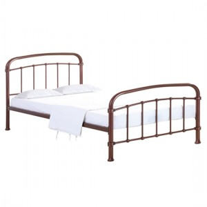 Halston Metal Double Bed In Copper