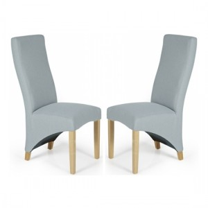 Hammersmith Archer Plain Fabric Dining Chairs In Pair