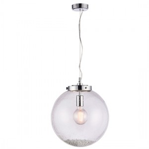 Harbour Large Clear Bubble Glass Ceiling Pendant Light In Chrome