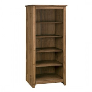 Havana Wooden Bookcase In Pine With 4 Shelves