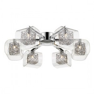 Heze Cross Luminaire Ceiling Light In Chrome