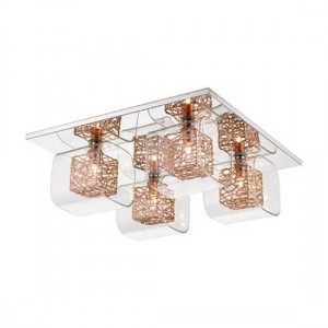 Heze Luminaire Ceiling Light In Chrome And Copper