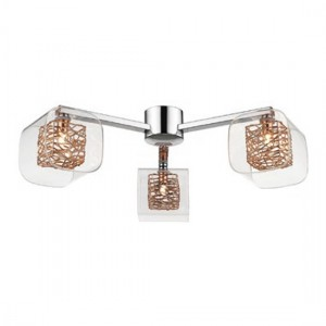 Heze Luminaire Cross Ceiling Light In Chrome And Copper