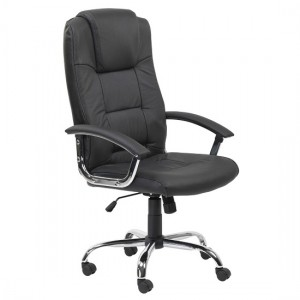 Houston Faux Leather High Back Executive Office Chair In Black