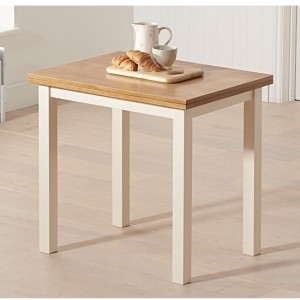 Hove Extending Wooden Dining Table In Light Oak And Cream