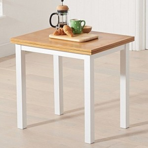 Hove Extending Wooden Dining Table In Light Oak And White