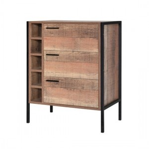Hoxton Wooden Wine Cabinet In Oak