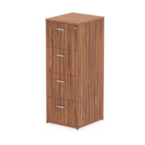 Impulse Filing Cabinet 4 Drawer Walnut