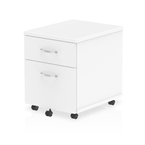 Impulse Mobile Pedestal 2 Drawer White