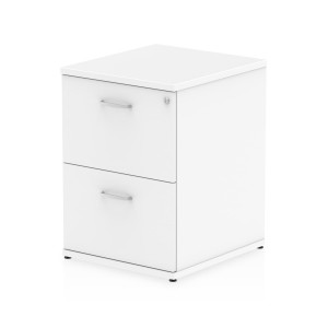 Impulse Filing Cabinet 2 Drawer White