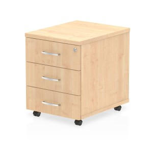 Impulse Mobile Pedestal 3 Drawer Maple