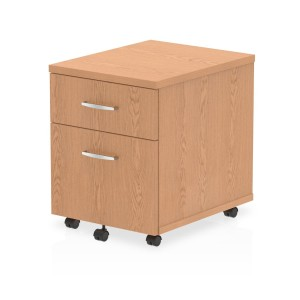 Impulse Mobile Pedestal 2 Drawer Oak