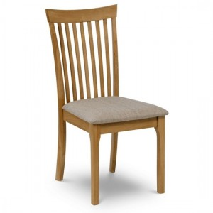 Ibsen Linen Fabric Seat Dining Chair In Biscuit