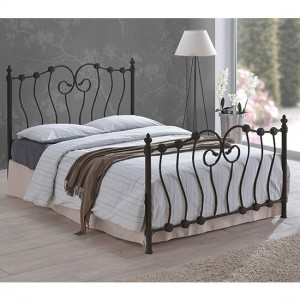 Inova Metal Small Double Bed In Black