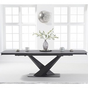 Jack Extending Marble Dining Table In Grey