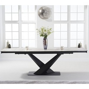 Jack Extending Marble Dining Table In White