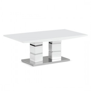 Janelle Wooden Coffee Table In White High Gloss