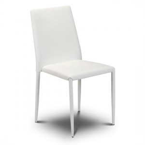 Jazz Stacking Faux Leather Dining Chair In White