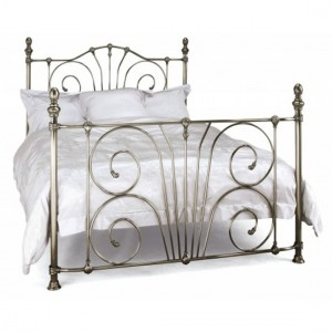 Jessica Metal King Size Bed In Antique Nickel