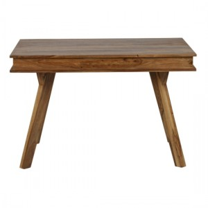 Jodhpur Small Wooden Dining Table In Natural Sheesham