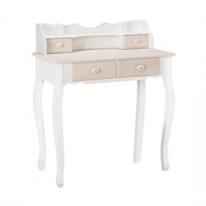 Juliette Wooden Dressing Table In Cream And White