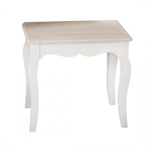 Juliette Wooden Dressing Table Stool In Distressed Effect