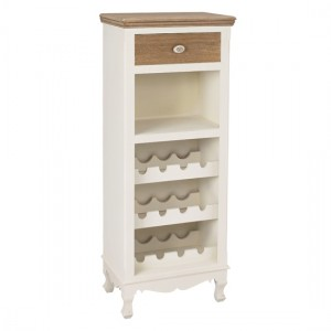 Juliette Wooden Wine Rack In Cream And Oak