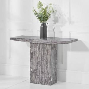 Venezia Marble Console Table Rectangular In Grey