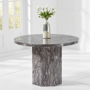 Venezia Marble Dining Table Round In Grey