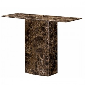 Kiev Marble Console Table In Natural Stone