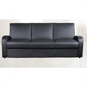 Kimberly Leather Sofa Bed In Black