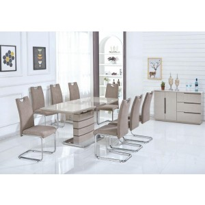 Knightsbridge Taupe Fabric Dining Chair In A Pair