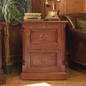 La Roque Wooden 2 Drawers Filing Cabinet In Mahogany