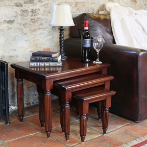 La Roque Wooden Nest Of Tables In Mahogany