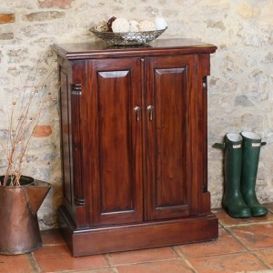 La Roque Wooden Shoe Storage Cabinet In Mahogany