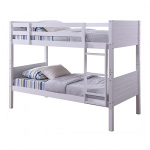 Lala Wooden Bunk Bed In White