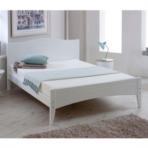 Lauren Wooden Double Bed In White